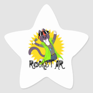 Taz the Rockstar Star Sticker