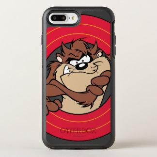 TAZ™ Through LOONEY TUNES™ Circles OtterBox Symmetry iPhone 7 Plus Case