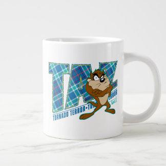 TAZ™ Tornado Terror Plaid Giant Coffee Mug
