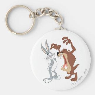 TAZ™ y Bugs Bunny no incluso que retroceden - Llaveros Personalizados