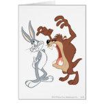 TAZ™ y Bugs Bunny no incluso que retroceden - Tarjetón
