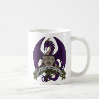 Taza 11oz del escudo de los dragones de Stonefire