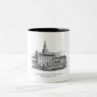 Taza 1774 de Pasillo Philadelphia de la