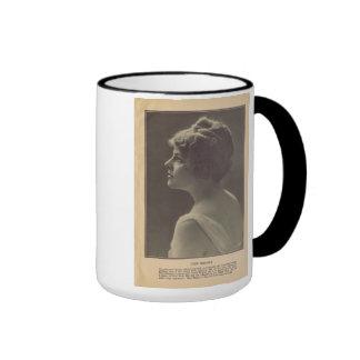 Taza 1916 del retrato de Hollywood del vintage de