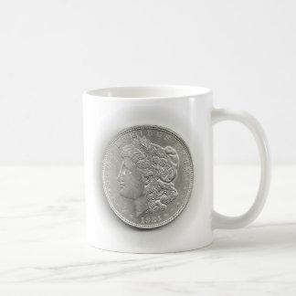 Taza 1921 de café del dólar de plata de Morgan