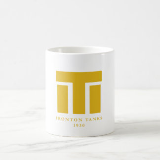 Taza 1930 de café de los tanques de Ironton