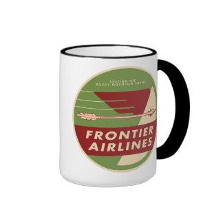 Taza 1946 del logotipo de Frontier Airlines del vi