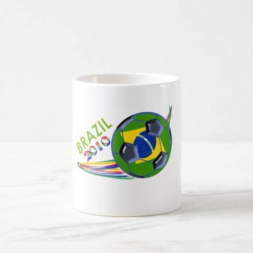 Taza 2010 de café del fútbol del Brasil