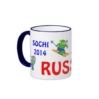 Taza 2014 de café de Sochi Rusia