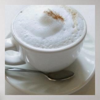 Taza 2 del Cappuccino Póster