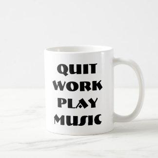 Taza abandonada de la música del juego del trabajo
