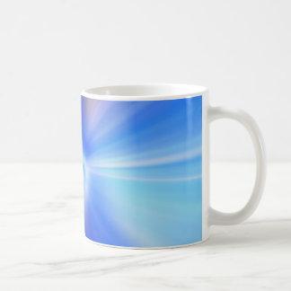 Taza abstracta azul