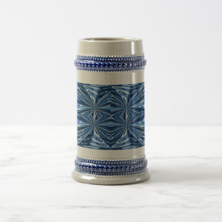 Taza abstracta azul del diseño