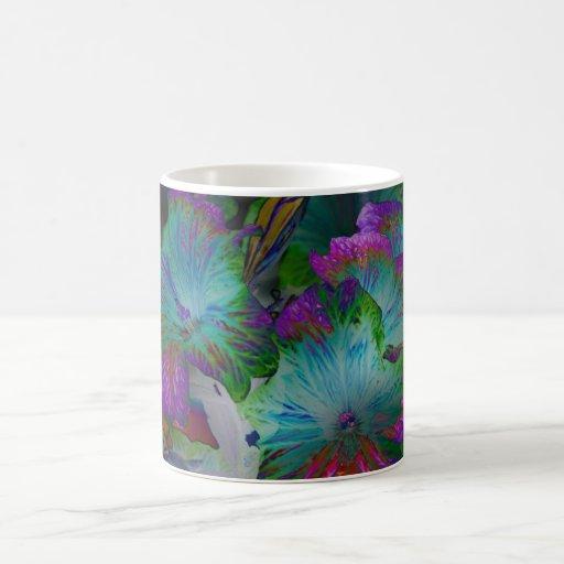 Taza abstracta de la flor