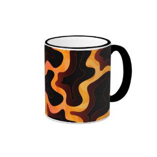 Taza abstracta de la lava fundida