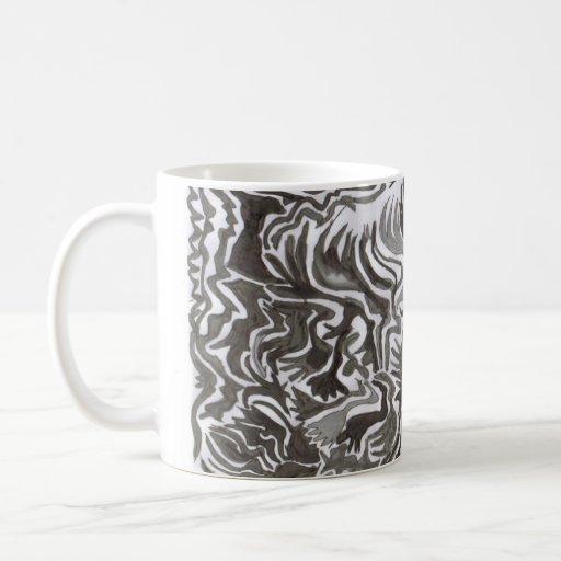 Taza abstracta de la tinta de la India