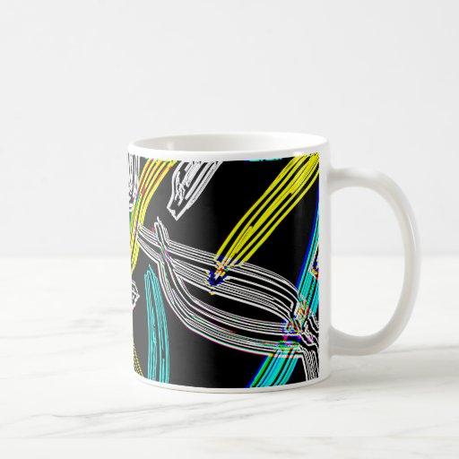 Taza abstracta de Neaon