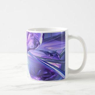 Taza abstracta del Aquamarine