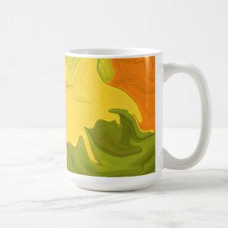 taza abstracta del arte del otoño