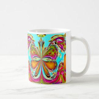 Taza abstracta del circo de la mariposa