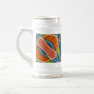 Taza abstracta multicolora
