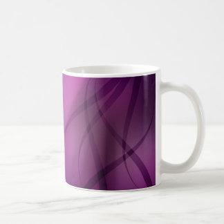 Taza abstracta púrpura