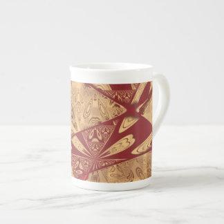 Taza abstracta roja de la porcelana de hueso del g tazas de china