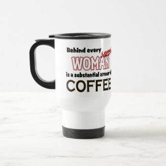 Taza acertada del viaje del café de la mujer