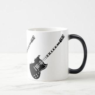 Taza activada calor de la guitarra que aparece