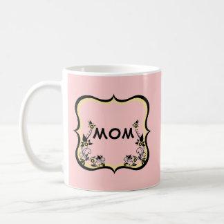 Taza adaptable floral descarada de la mamá