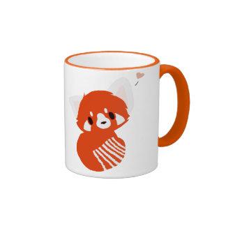 Taza adorable de la panda roja