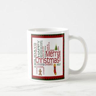 Taza adorable del navidad