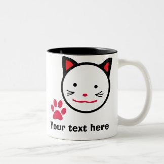 Taza afortunada personalizada del gato
