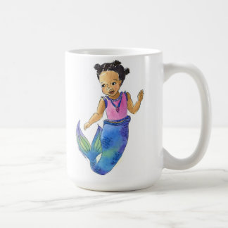 Taza afroamericana de la sirena