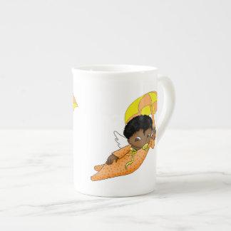 Taza afroamericana del ángel del bebé del dibujo a taza de china