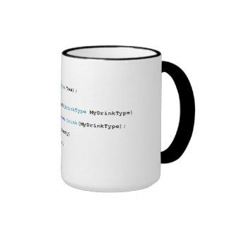 Taza aguda del té de los programadores de C