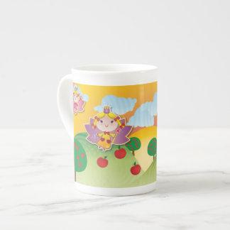 Taza airosa de la porcelana de hueso del Fairyland Taza De Porcelana