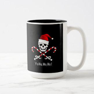 Taza alegre del bastón de caramelo del navidad de