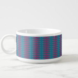 Taza alegre del tazón de los azules de la cereza