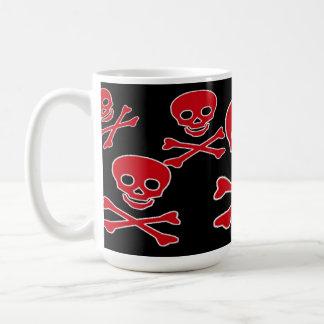 Taza alegre roja del pirata de Rogelio