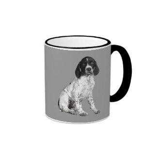 Taza alemana del perrito del indicador de pelo cor