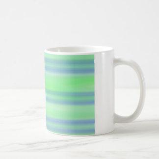 Taza alineada horizontal azul y verde