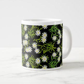 Taza alpina del jumbo de las flores de Edelweiss d Tazas Extra Grande