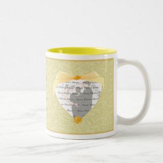 Taza amarilla de la flor