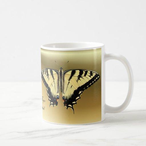 Taza amarilla del ~ de Swallowtail
