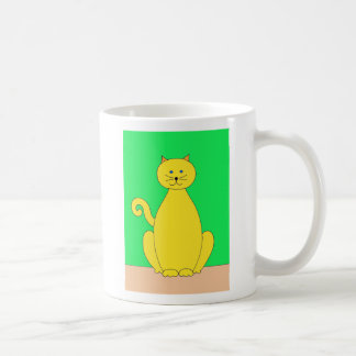 Taza amarilla del gato