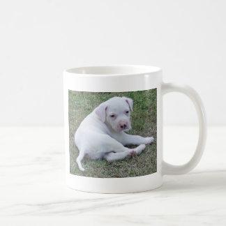 Taza americana del perrito del dogo