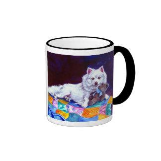 Taza americana del perro esquimal