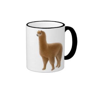 Taza amistosa de la alpaca de Brown