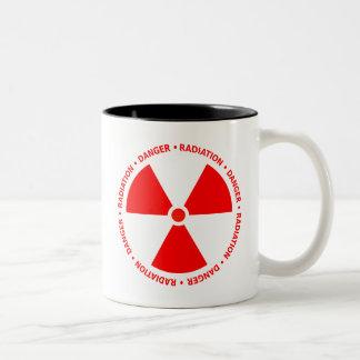 Taza amonestadora de la radiación roja
